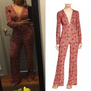 Free people flower jumpsuit new with tags